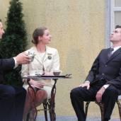 Pictured: Ernest Palmer, Sarah Karnes, Morgan Bader Photo by Denise Van Vleck